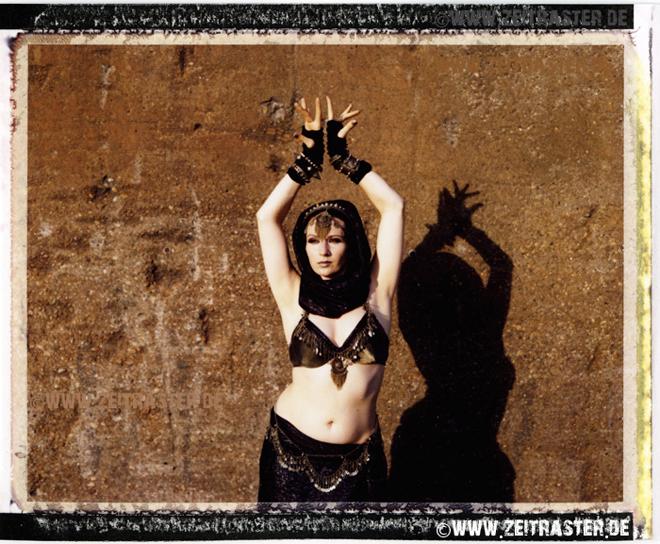 Cristinas Tribal Fusion Dance, taken with Polaroid 600